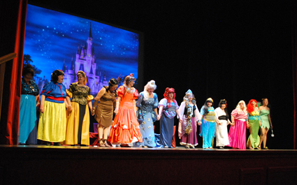 Original reunión de princesas waldisneyanas/ A. A.