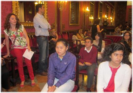 En el salón de plenos del ayuntamiento de Granada