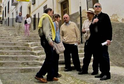 Durante la visita del casco histórico de Montefrío