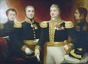 Le Général Léopold Hugo avec deux de ses frères et son fils Abel (Julie Hugo (Paris, 1797 ; Paris, 1869), entre 1820 et 1860, Maison de Victor Hugo).