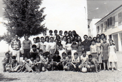 Con mi grupo de 6º en San Pedro de Alcantara (Malaga) año 1975