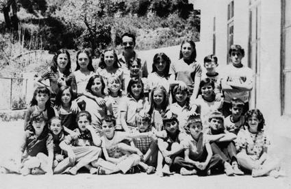 Con mis alumnos de la unitaria de Picena, curso 1979/90