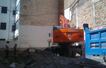 En este solar de la calle Azhuma había una casa antigua. Junio de 2013
