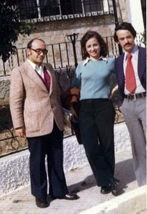 Yunquera, mi primer destino, con Pepi y Jose María, compañeros