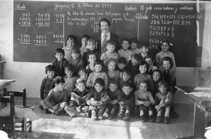 Yunquera, mi primera escuela y mis primeros alumnos. Enero de 1975