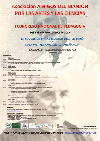 Cartel con el programa del congreso