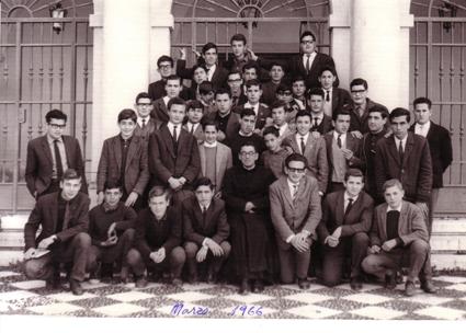 Estudiantes de magisterio, año 1966