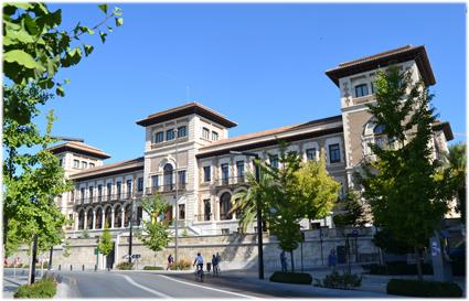 Antigua Escuela Normal de Magisterio, actual sede de delegaciones territoriales de la Junta