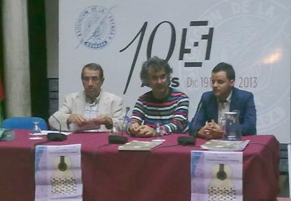 Juan de Dios Vico, Iván Maldonado y Juan Pinilla en la presentacion del curso flamenco