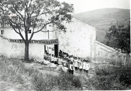 Escuela de Zagra donde ejerció Eladio Fernandez