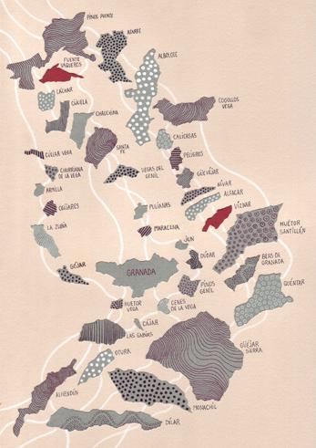 Poblaciones granadinas por cuyos centros educativos pasará el libro 'Lorca y la Vega' /C. CAPILLA