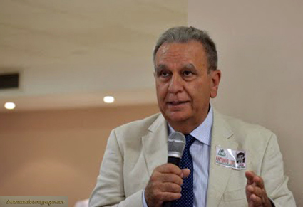 El autor de este artículo, Antonio Luis García, durante su intervención en el acto / B. ROA