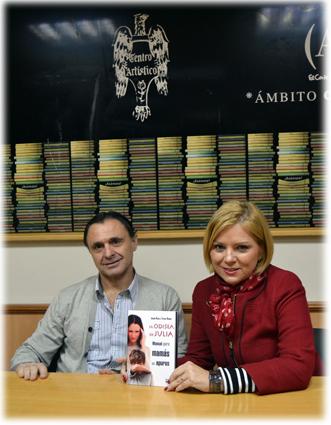 Jacobo y Teresa participaron en las I jornadas de Dauro 'Escribir y editar' celebradas en el Centro Artístico