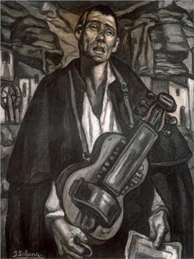 El músico ciego de José Gutiérrez Solana.  Museo Nacional Centro de Arte Reina Sofía, Madrid
