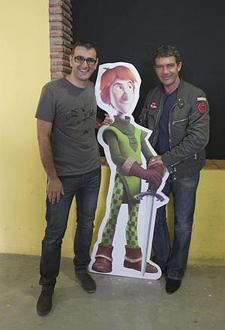 Manuel Sicilia de Kandor Graphics y Antonio Banderas, productor de 'Justin y la espada de Valor'