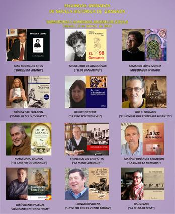 Autores participantes en las 2ª jornadas de novela histórica