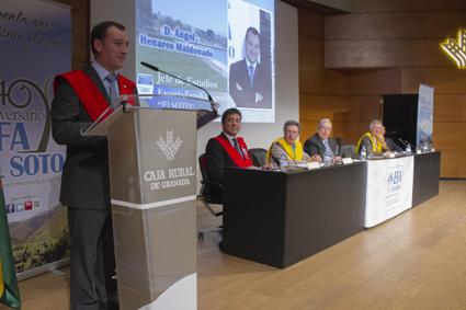 Intervención de Ángel Henares en un momento del acto de clausura /EFA-SOTO