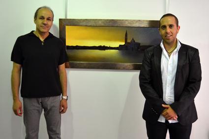 Carles Bellosta y Alberto López, director de Milenium Gallery
