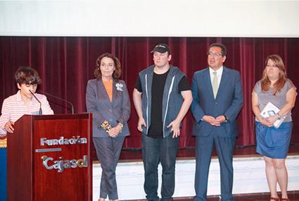 Iker Castro Andreu en su intervención durante el acto