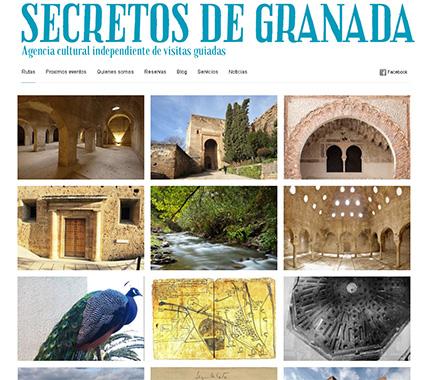 Portada web Secretos de Granada