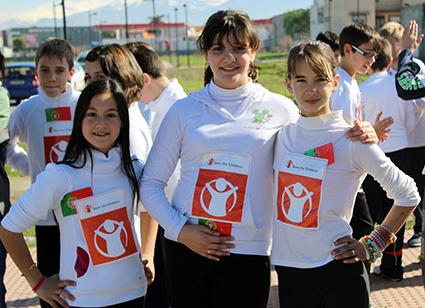 Participantes en la carrera solidaria