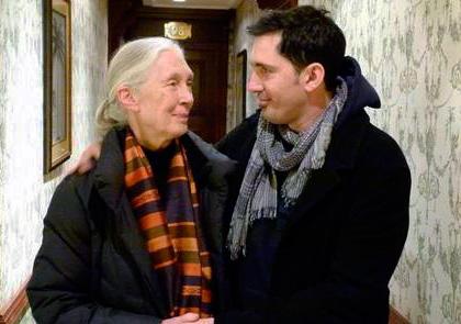 César Bona con Jane Goodall