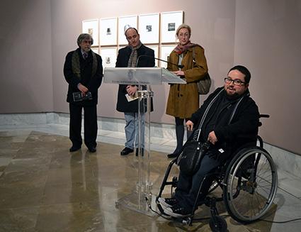Intervención de Emilio Luis Fernández, director del  Taller de Grabado La Granja/ A.A.