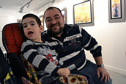 Los dos Migueles, padre e hijo, autor y protagonista del original cuento