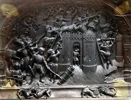 Toma de Alhama en la silleria de la Catedral de Toledo