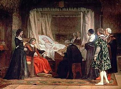 Testamento de Isabel la Catolica. Obra de Eduardo Rosales.  Museo del Prado