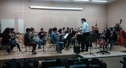 Ensayo de la Orquesta Filarmonia Granada en el Conservatorio Ángel Barrios /A.A.