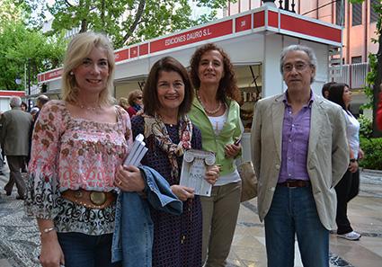 María Dolores Fernandez-Figares, junto a Lola Martín, Pilar Sánchez y Paco Espínola/ A.A.