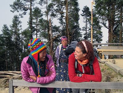 Gloria Osuna durante su estancia en Nepal