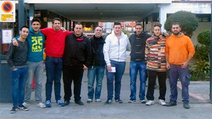 Grupo de alumnos con destino Berlín