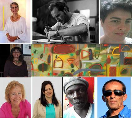 Barbara G. Price, Augusto Moreno, Ursula Wiliams, obra de Didier Mejía, Jose Jiménez, Lupe Charlone,  Ngeko Mwanda y Rafa Hitos