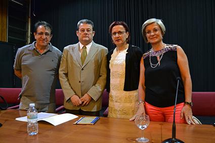 Ana Gámez, DelegadaTerritorial de Educación en Granada, preside un acto en el IES Politécnico Hermenegildo Lanz /A.A.