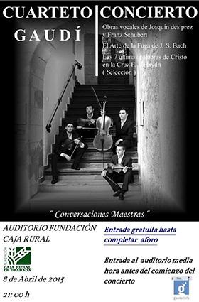 Cartel de uno de los conciertos del Cuarteto Gaudí
