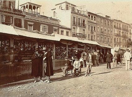 Acera del Darro hacia 1890