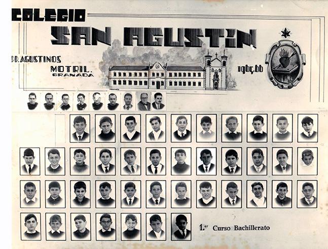 Orla del Colegio San Agustin de Motril. (Curso-1965-66)