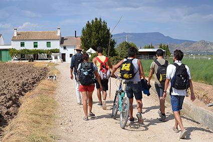 Los participantes se acercan al cortijo Daimuz/A.A.