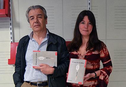 José Gutiérrez y Mariana Lozano, en la sede de Esdrújula Ediciones/A.A.