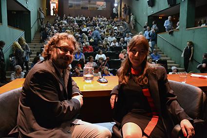 Víctor Miguel Gallardo y Mariana Lozano el día de la presentación/A.A.