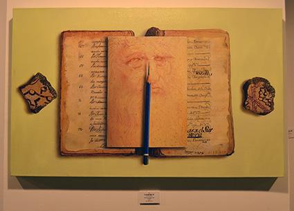 Unas de las obras de Diego Canca expuestas en Milenium Gallery /A.A.