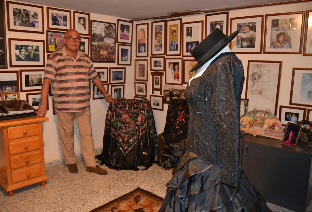 Francisco Jiménez Rodríguez en su museo de la copla en Cájar 03/08/2015 FOTO: ANTONIO ARENAS