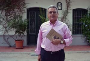 José Antonio García López, autor de 'María Galvany, una diva en Pinos Puente' 16/08/2016 FOTO: ANTONIO ARENAS