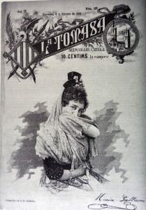 Portada del nº 423, de la revista La Tomasa, dedicada a María Galvany (8 de oactubre de 1896)
