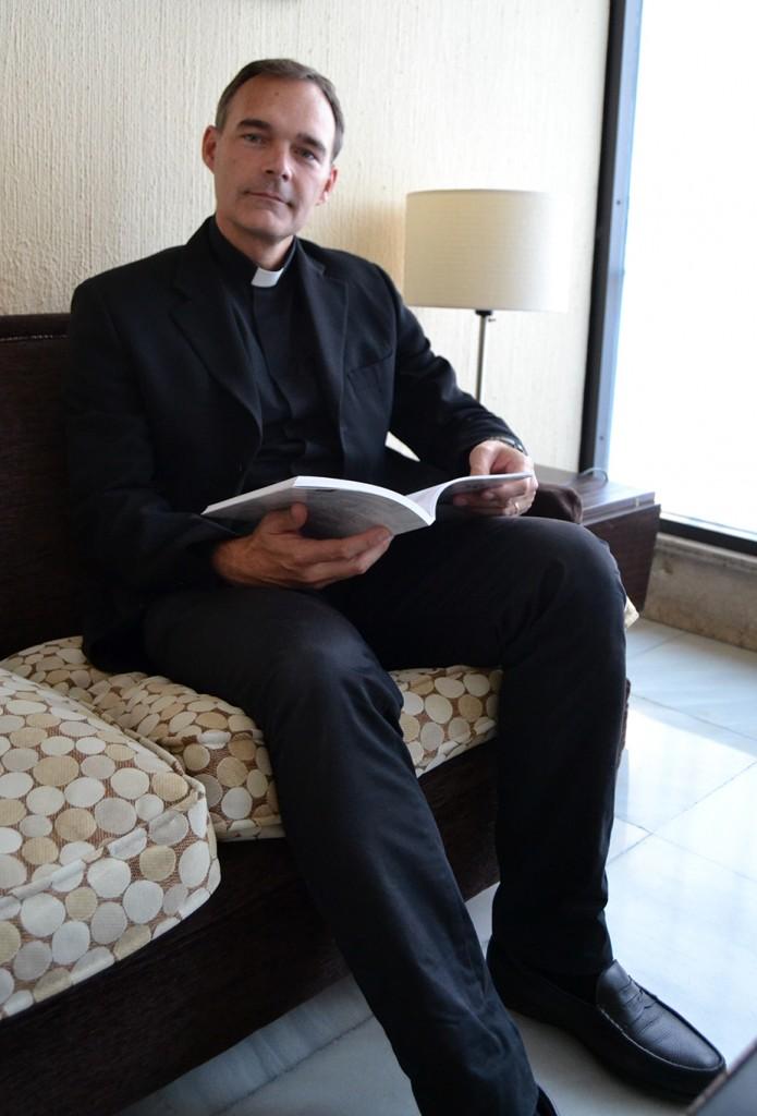 Pablo Marti del Moral, abogado y teólogo granadino, autor del libro 'El rosto del amor. Misericordia, perdón y vida' (Rialp)  FOTO: A. ARENAS