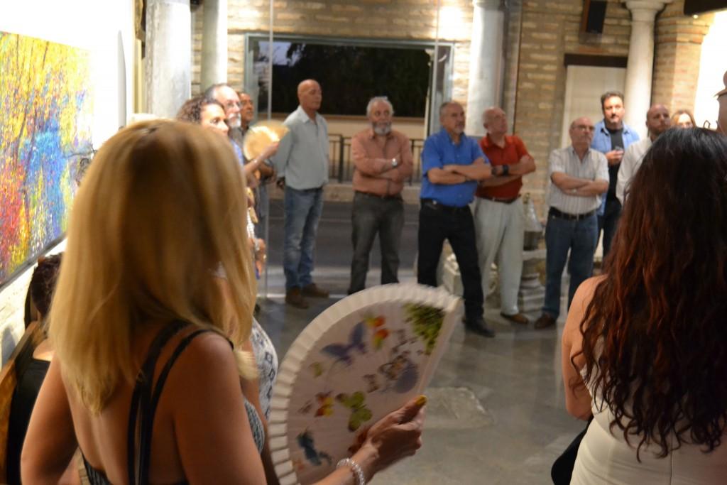 Asistentes al acto celebrado en el Torreón de Cotilla, de Ogíjares/A.A.