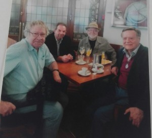 Ruiz Amezcua con Ian Gibson, Juan de Loxa y el hispanista, Gabrielle Morelli
