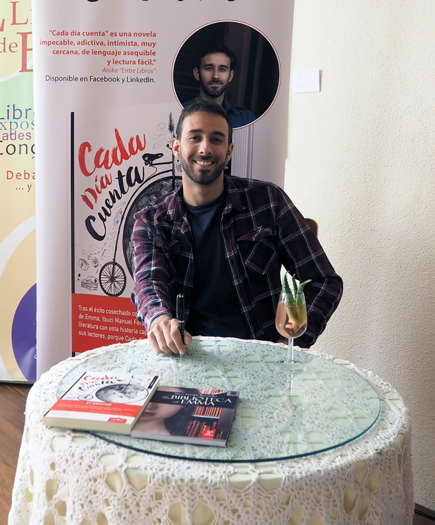 El autor de 'Cada día cuenta', Yauci Manuel Fernández